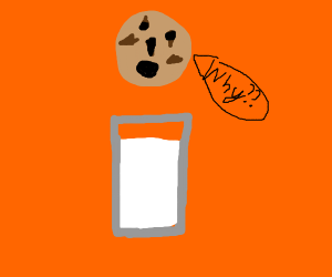 Dipping a sentient cookie in milk