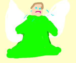 green angel crying