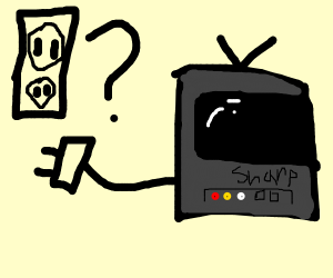 A man unplugs his T.V and gets confused