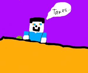 Minecraft Steve Does Their Taxes!