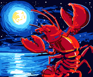 Walter walking lobster dancing in moonlight
