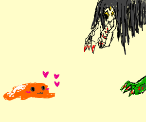 An orange blob in Love