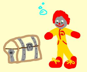 Ronald McDonald finds sunken treasure