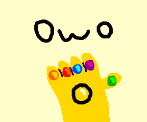 OwO face with infinity gauntlet