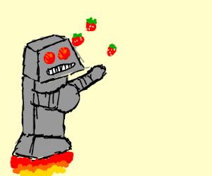 Robot juggling strawberries