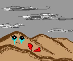 A heartbroken desert (sad)