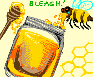 Jar of bee puke