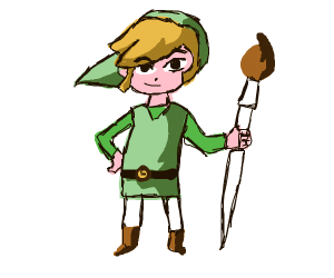 link with a paint brush