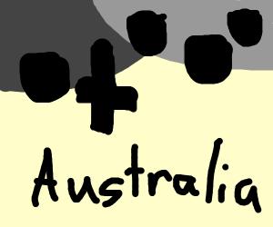 An upside-down graveyard for Aussies