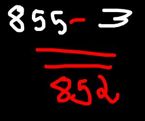 852 (maths equation)