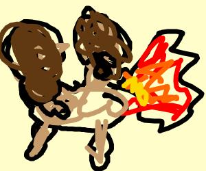 Peanut Pony Barfing Fire