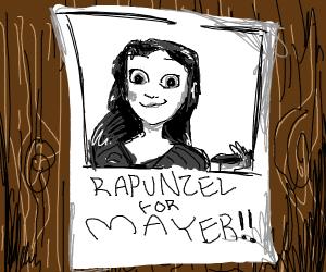 Rapunzel election poster as mayor
