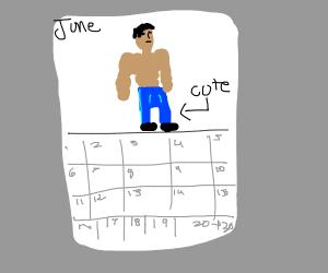 Buff calendar man with cute jeans