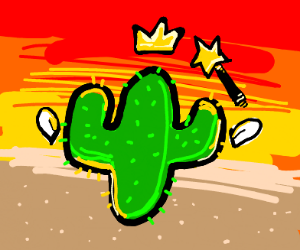 cactus except it's a f---ing fairy.