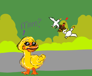 Duck's mother is kidnapped