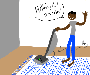 the vacuum cleaner works, its a miracle!