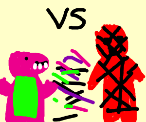 Barney vs Spider-MAN