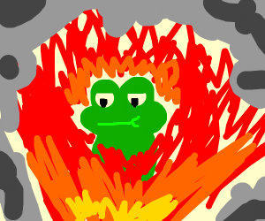 frog is ok with dying in a fire