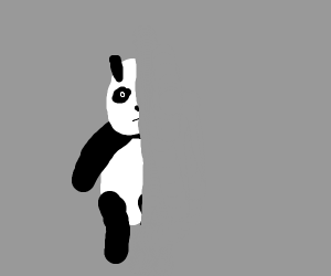 half a panda