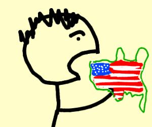 Man eats America