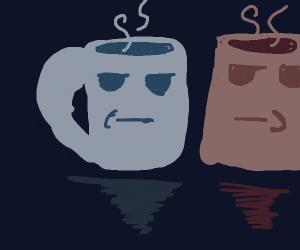 faces on mugs