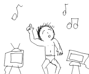 Dancing with TVs