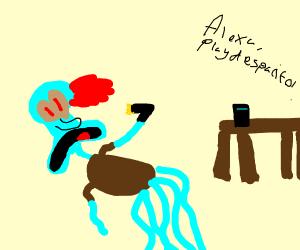 squid ward killed himself, alexa play despaci