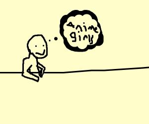guy thinking about something