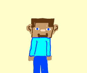 Minecraft Steve But With Realistic Ears Drawception