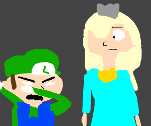 Rosalina and obscure green plumber character