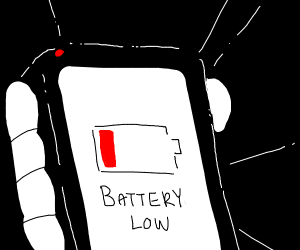 The battery is low