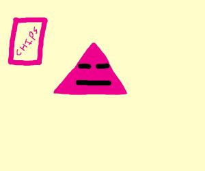 Angry pink dorito