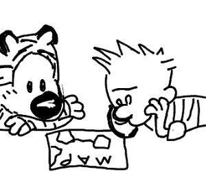Calvin and Hobbes exploring