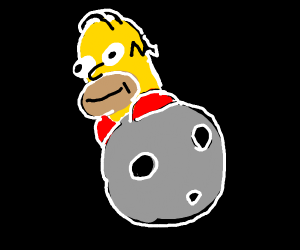 Homer on the moon