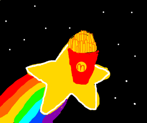 French Fries on a Star