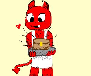 Devil baking a Chest