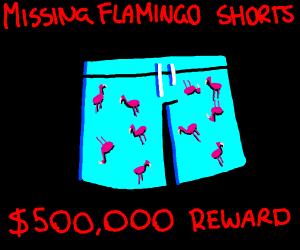 Jacksepticeye's flamingo shorts !!