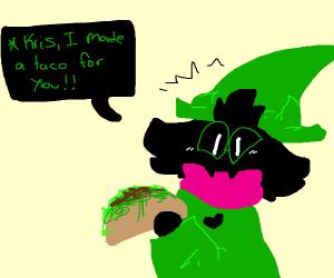 Raslie made tacos for kris (NOT SUSIE)