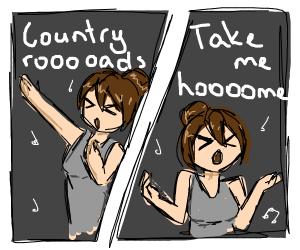 Take me hoooome, Country roooooads