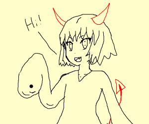 Demon girl says hi