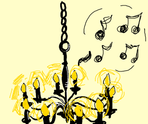music coming from a chandelier