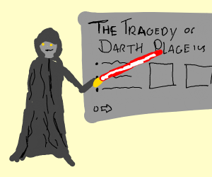 Sith lord giving a powerpoint presentation
