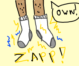 electrically charged socks