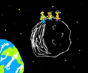 Edd (Ed, Edd and Eddy) on the moon