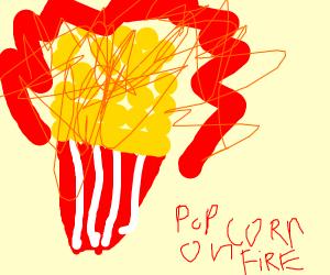 flaming popcorn