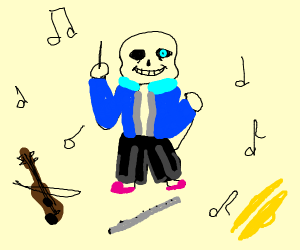 sans the music conductor