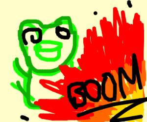 frogman dodges explosives