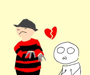 Unhealthy relationship between Freddy& person