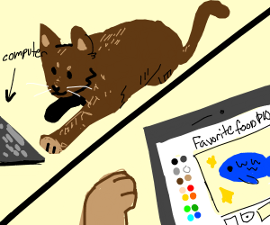 Your cat is playing Drawception