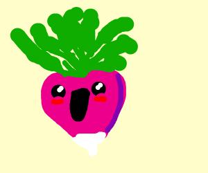 Cheery radish (really happy and proud)